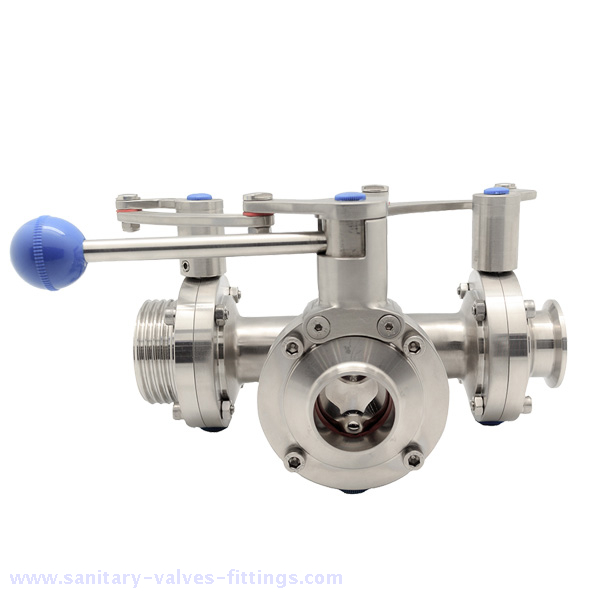 Sanitary Butterfly Valve with with Plastic Multi-position